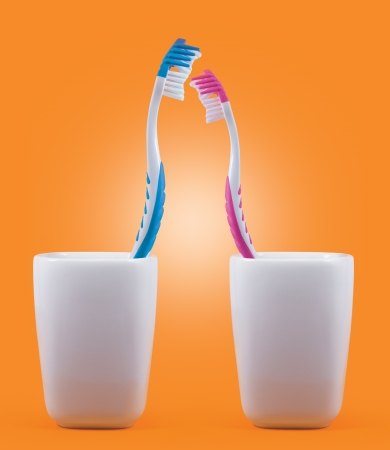 Toothbrushes  Love concept photo