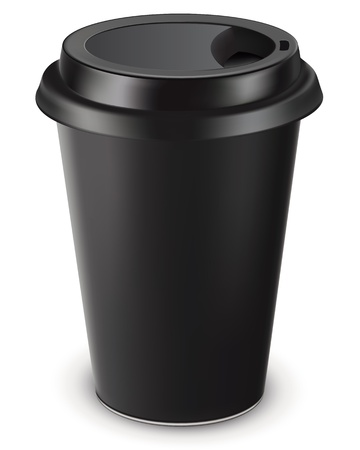 Disposable coffee cup isolated  Vector illustration Ilustração