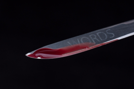Blades with blood
