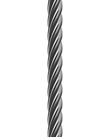 acier: câble métallique isolé. Vector illustration