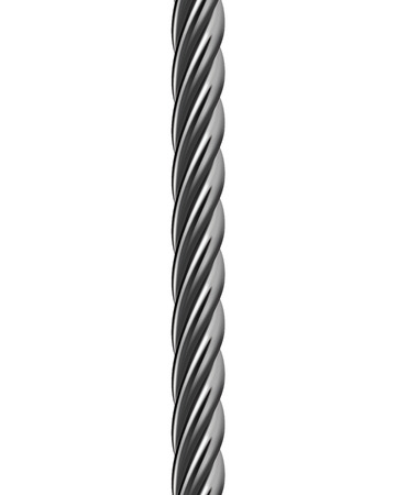 braid: Metal cable isolated. Vector illustration