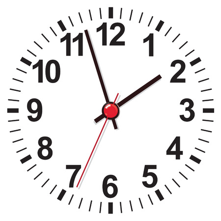 round face: Clock face. Vector illustration