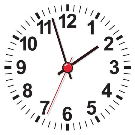 La cara del reloj. Ilustración vectorial