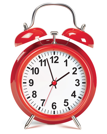 Alarm clock isolated on white. Vector illustration Çizim