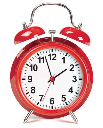 Alarm clock isolated on white. Vector illustration Illustration