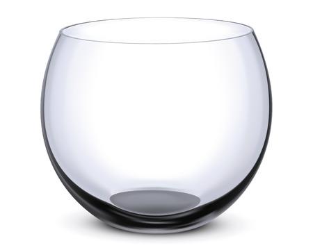 Fish bowl isolated on white. Illustration