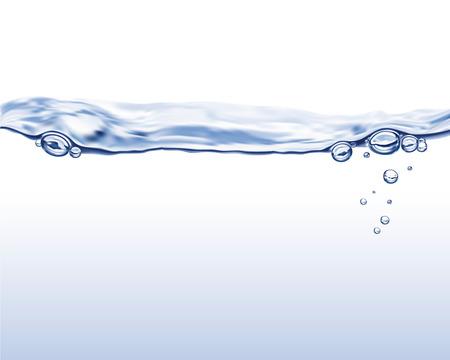Water wave illustration Ilustracja