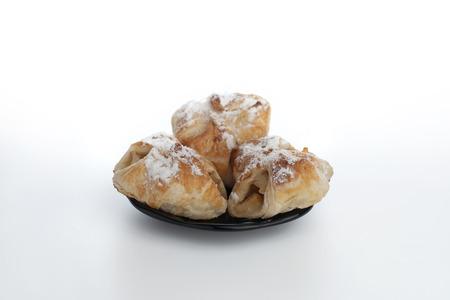 danish puff pastry: Sweet bun on plate