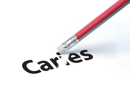erasing: Pencil erasing the word  Stock Photo