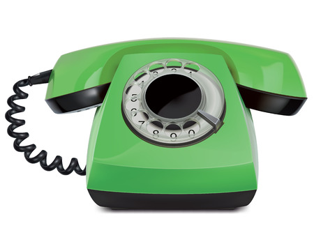 Telephone vintage, isolated. Vector Illustration Vector