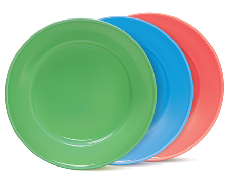 Plates, isolated. Vector illustration