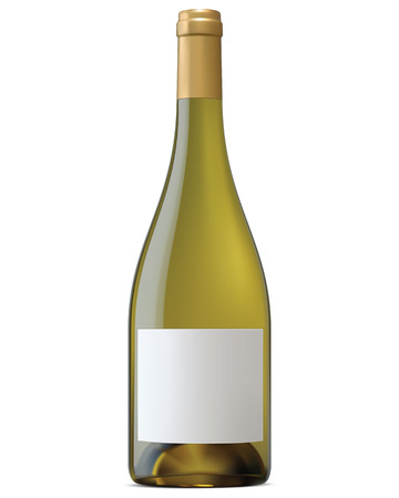 bouteille de vin: Bouteille de vin de Bourgogne avec des �tiquettes vierges isol� Vector illustration
