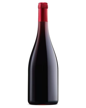 Borgoña vino tinto botella de ilustración vectorial