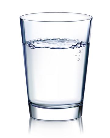 acqua vetro: Vetro con acqua isolato illustrazione vettoriale Vettoriali