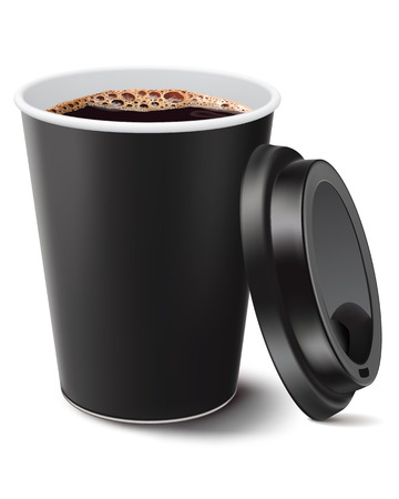 disposable: coffee cup isolated  Vector illustration