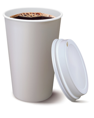 disposable cup: Coffee cup isolated  Vector illustration