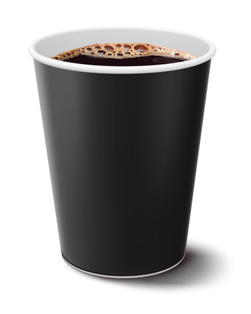 disposable: coffee cup isolated  Illustration Stock Photo