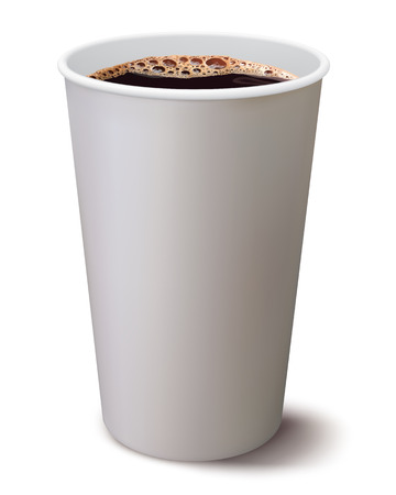 coffee stain: Coffee cup isolated  Illustration Stock Photo