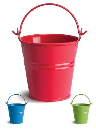 Bucket set. Isolated. Illustration Illustration