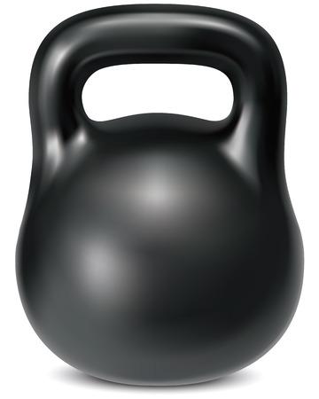 poise: Kettlebell weight isolated. Illustration