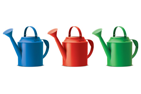 indoor garden: Watering cans set. Isolated. Vector illustration Illustration