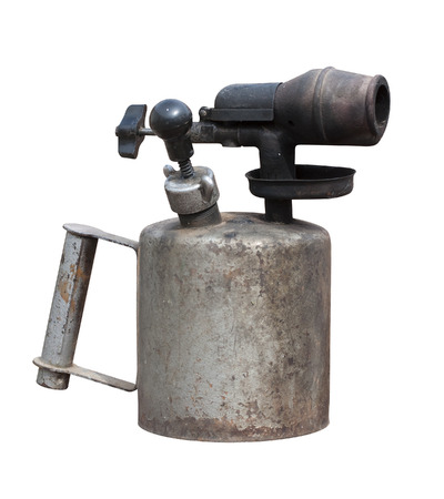 blowtorch: Blowtorch old, rusty. Isolated on white