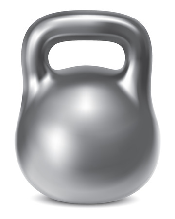 poise: Kettlebell weight silver isolated. Illustration