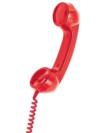 Handset of telephone. Isolated.