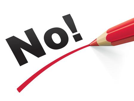no lines: Pencil check No. Vector Illustration