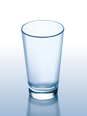 glass cup: Empty glass. Vector illustration Illustration