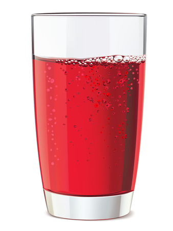 pomergranate: Glass of red juice, isolated. Vector illustration