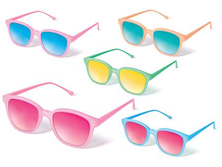 Sunglasses vector icon set. Vector illustration Illustration