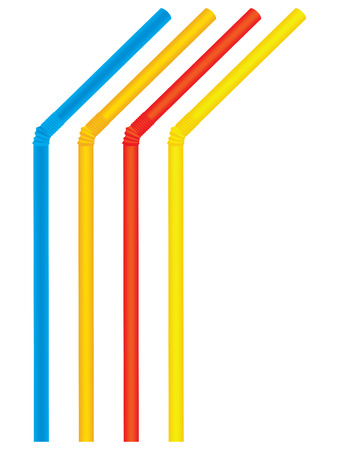 Drinking straws. Set. Vector illustration Illustration