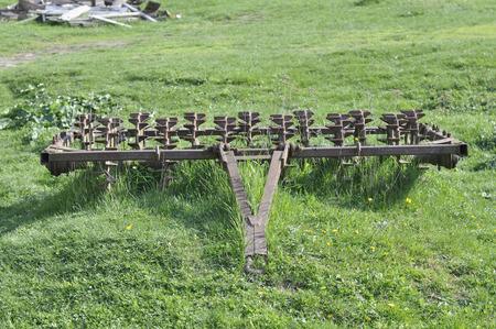 thresh: Antique farming equipment