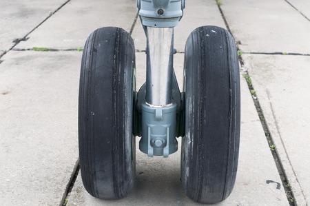 landing light: Front landing gear light aircraft on the ground