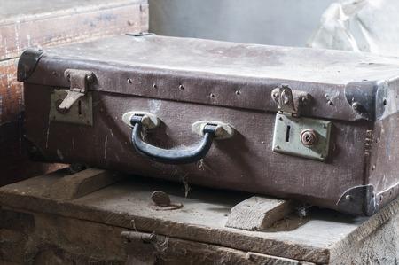 antique suitcase: Old suitcases