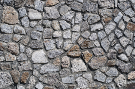 stone wall: Medieval stone wall. Background Stock Photo