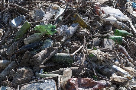 biodegradable material: Recycling garbage and reusable waste.