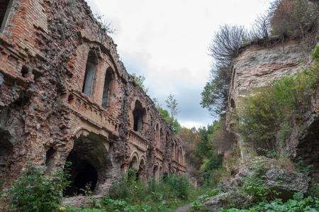 dungeons: Casemates of ruins Fort Tarakanovskiy. Dubno. Ukraine.