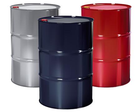 barrels with nuclear waste: Oil Barrels set