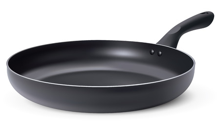 Frying pan, isolated. 3D illustration