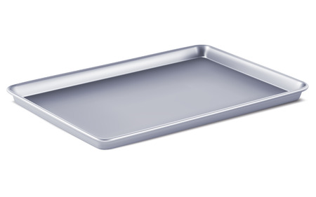 rectangular: Serving tray isolated. 3D illustration