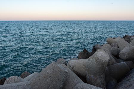 horison: Breakwater Stock Photo