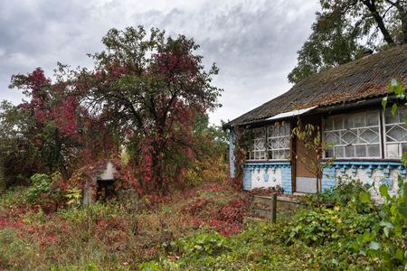 ramshackle: Abandoned old house in ukrainian village