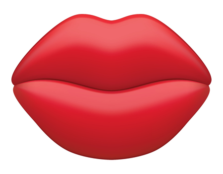 Female sexy and lips. Mouth cartoon icon. Vector 3d illustration