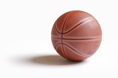 Basketball isolated on white with clipping path. Realistic 3d illustration Stock Photo