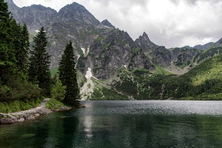 Road in the mountains. Tatra National Park, Poland. 스톡 콘텐츠