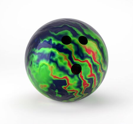 Bowling Ball isolated on white  . Render 3d illustration
