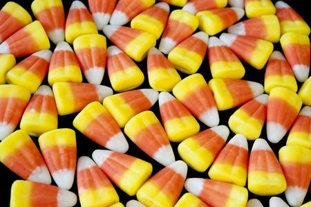 Candy corn on black