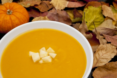 Butternut squash, apple and ginger soup